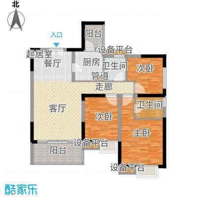 天悦府116.00㎡一期17号楼标准层B户型