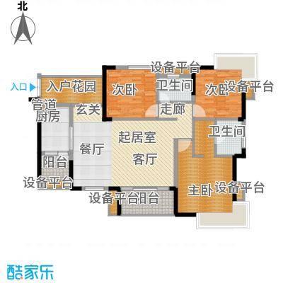 天悦府131.00㎡一期17号楼标准层A1-2户型