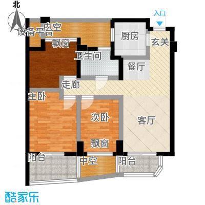 信宇锦润公寓89.00㎡B奇数层户型