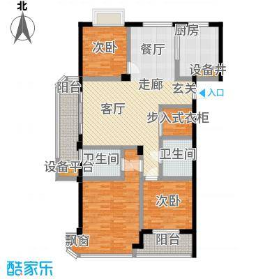 信宇锦润公寓128.00㎡C奇数层户型