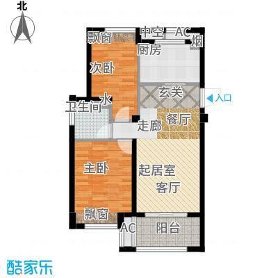 良渚文化村七贤郡75.00㎡二期A1户型