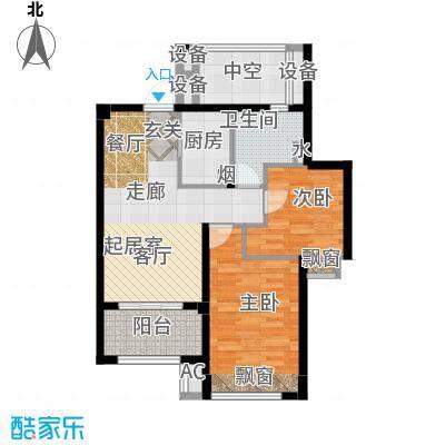 良渚文化村七贤郡75.00㎡二期A2户型