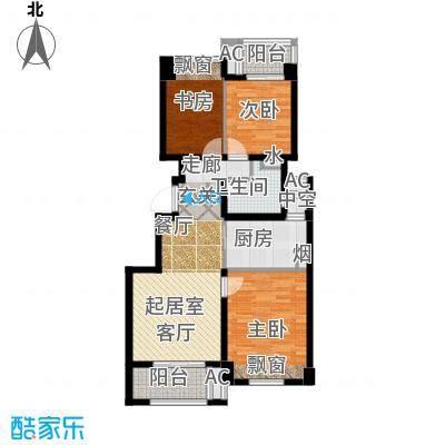 良渚文化村七贤郡90.00㎡二期B5户型