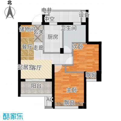 良渚文化村七贤郡75.00㎡户型