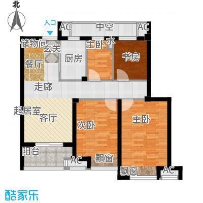 良渚文化村七贤郡90.00㎡中间套户型