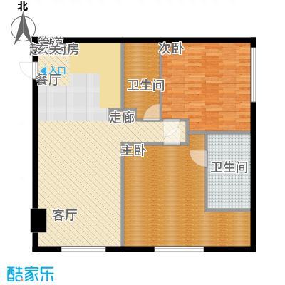 旷世国际163.00㎡B栋5-11层D1五星级酒店式公寓户型