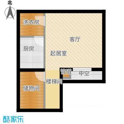 立达博雅苑53.82㎡一期8号楼地下一层A8户型