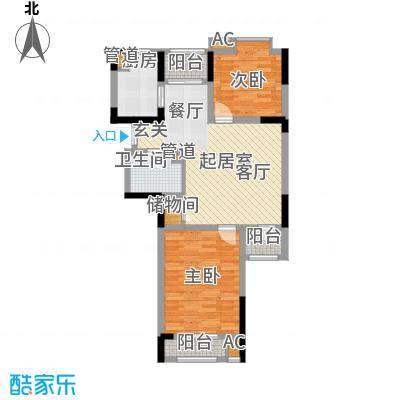 小镇西西里92.00㎡四期28号楼标准层C3户型