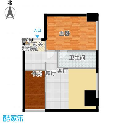 旷世国际101.00㎡B栋4-11层C4五星级酒店式公寓户型