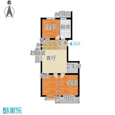 滨海未来城103.22㎡二期16号楼18层A户型