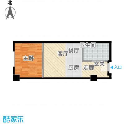 皇冠国际公寓60.00㎡酒店公寓标准层户型
