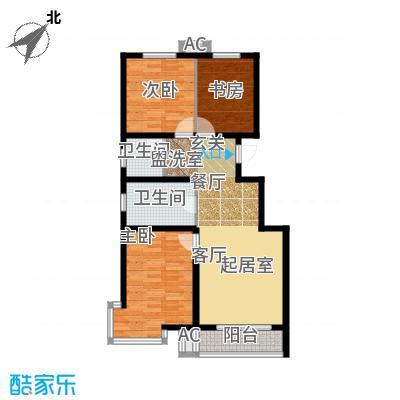 滨海未来城107.03㎡二期15号楼20层A户型