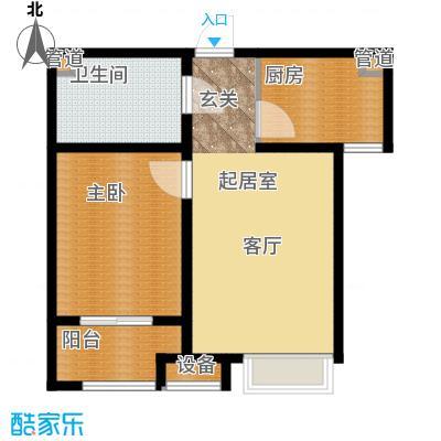 丽景名苑69.00㎡一期高层标准层A2户型