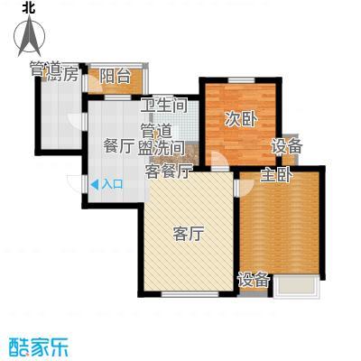 丽景名苑89.00㎡一期高层标准层B1户型