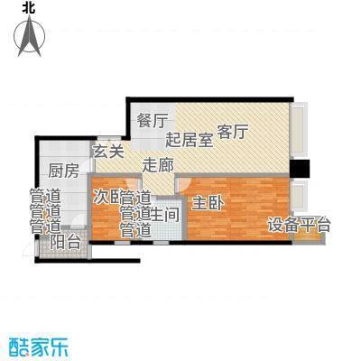 天津富力中心91.00㎡高层标准层中区11户型