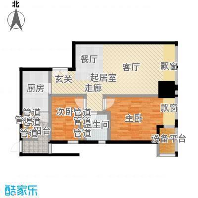 天津富力中心94.04㎡高层标准层低区2-11户型
