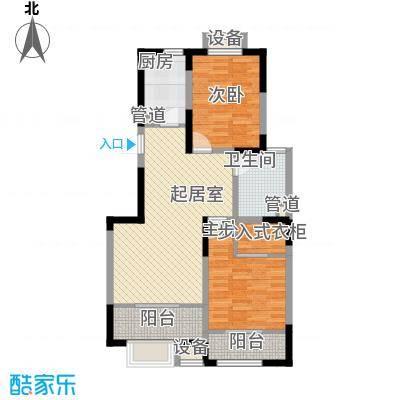 心泊馨城95.05㎡一期2、3号楼标准层h1'户型