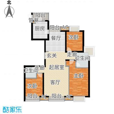 龙亭家园165.00㎡2面积16500m户型