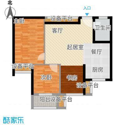同方瞰和平108.45㎡2号楼标准层0面积10845m户型
