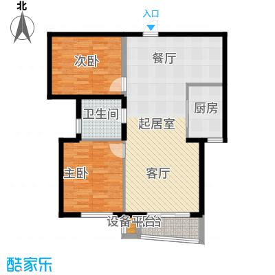 同方瞰和平107.24㎡10号楼标准层面积10724m户型