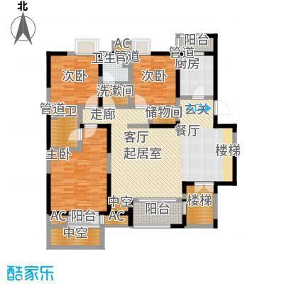 万科水晶城142.08㎡GQ(N)-O1'上面积14208m户型