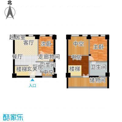 天津科技广场65.00㎡高层标准层LOFTS1户型