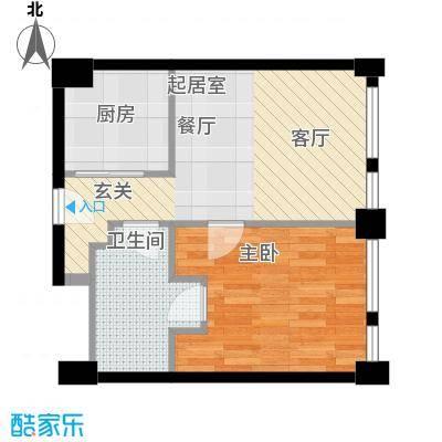 天津科技广场66.00㎡公寓标准层B1户型