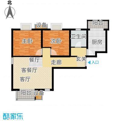 滨旅煦园105.00㎡2/3号楼小高层标准层F户型