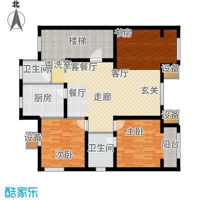 滨旅煦园134.00㎡1/4号楼小高层标准层E户型
