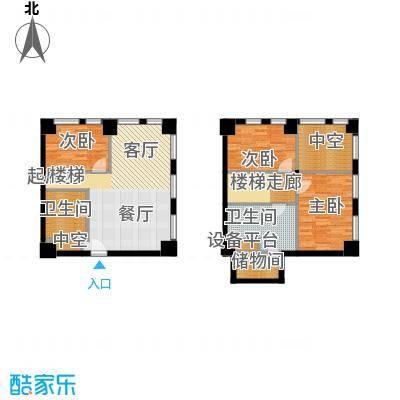 天津科技广场68.00㎡高层标准层LOFTS2户型