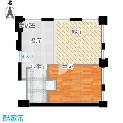 天津科技广场68.00㎡公寓标准层B1A户型