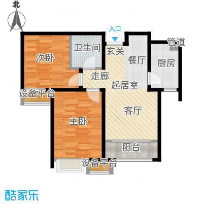 京能海与城89.00㎡高层标准层全阳户型
