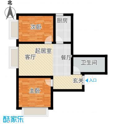 天津东方环球影城69.03㎡精装公寓标准层A户型