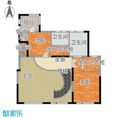 新湖武林国际公寓298.00㎡3号楼G二层户型