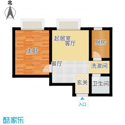 天津东方环球影城52.77㎡精装公寓标准层B户型