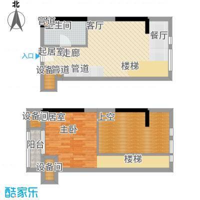 D-House45.00㎡公寓标准层Q1户型