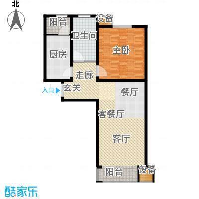 滨旅煦园81.00㎡1/4/5号楼小高层标准层D户型