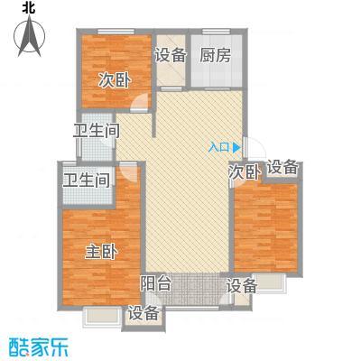 华府御墅115.00㎡一期高层12、13、14#标准层B2户型