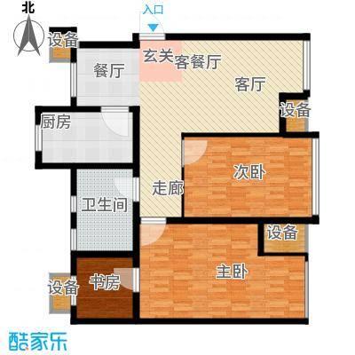 滨旅煦园100.00㎡1/4号楼小高层标准层A/A1户型