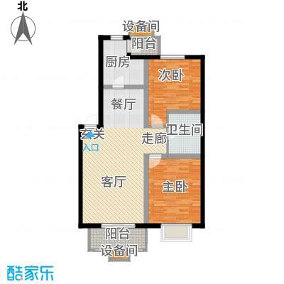 大地12城90.73㎡一期6、7、11、12号楼一层A户型