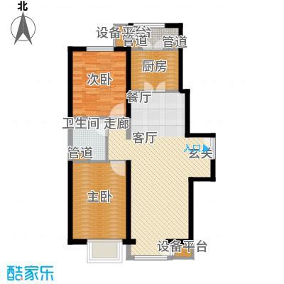 泰达城河与海107.00㎡二期5#楼标准层二居户型
