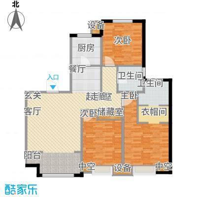 复地湖滨广场123.00㎡小高层标准层C11户型