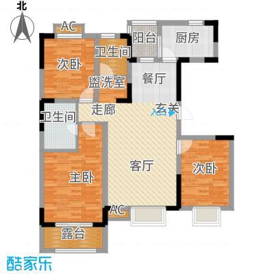 大地12城112.10㎡一期13号楼偶数层E户型