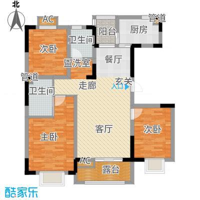 大地12城112.10㎡一期13号楼奇数层C户型