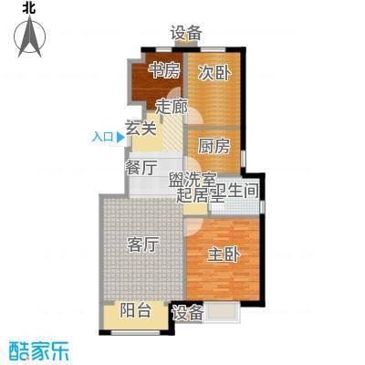 复地湖滨广场97.00㎡小高层标准层C3户型