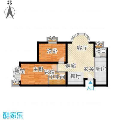 富贵嘉园77.88㎡高层标准层C0106户型
