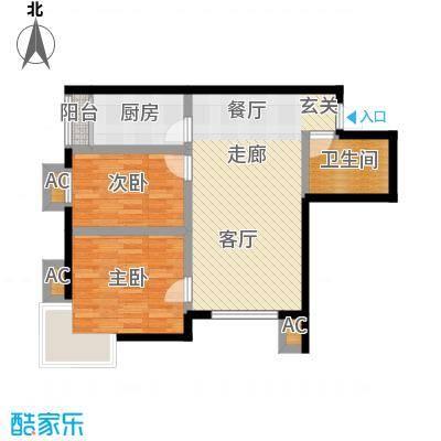 富贵嘉园86.38㎡高层标准层C0205户型