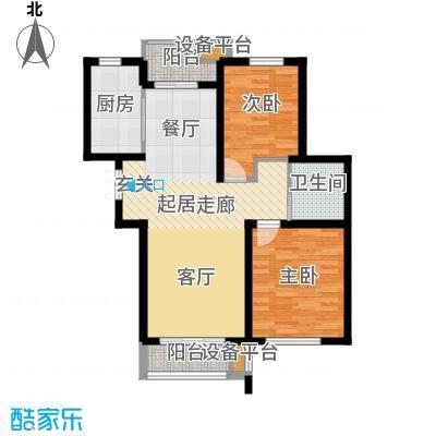 清谷95.00㎡竹园3号楼O户型
