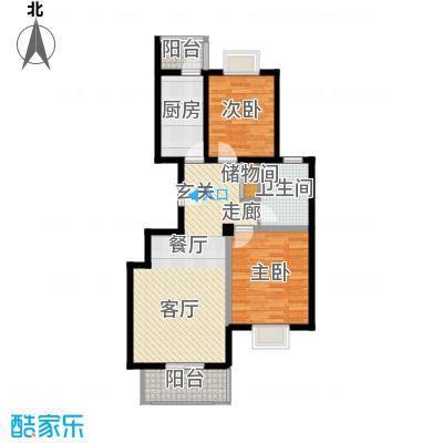 福汇华庭92.99㎡高层标准层D户型