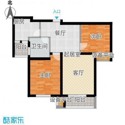 清谷88.00㎡竹园3号楼M户型